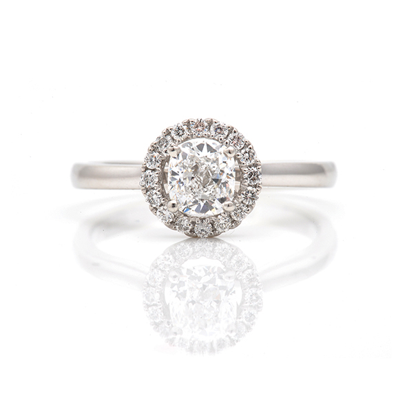 halo set diamond ring